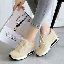 Womens Shoes Lace Up Fashion Sneakers Sport Wedge Ankle Boots Casual Shoes Mid