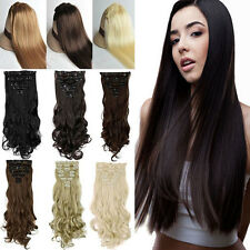 2017 New Full Head Clip in Hair Extensions 100% Natural as Human For Daily Party