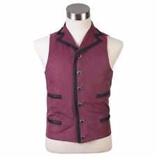 Doctor Who Purple Vest Cosplay Costume Tailored Waistcoat Red  custom made