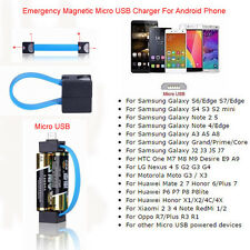 Magnetic AA/AAA Battery Micro USB Emergency Charger for Samsung Cell Phone LG