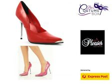 Heat Hot  Pink Chrome Look Heels Pleaser USA- Bec's-Free Express!