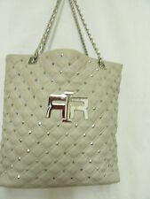 RIVER ISLAND Quilted Chain Handle Grey Bag good GOOD CONDITION