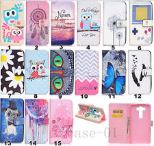 Magnetic PU Leather Card Holder Wallet +TPU Flip Case Stand Cover Skin For LG