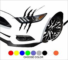 Scratch Stripe Headlight for Muscle Car Truck SUV PickUp Vinyl Decal Sticker