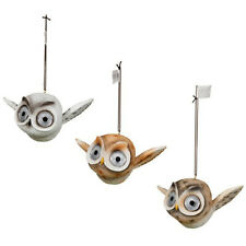 Cute Decorative Owl Ornament Springy Hanging Owl with Solar Light Up Eyes