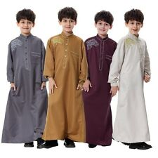 Child Kids Boys Saudi Thobe Thoub Robe Daffah Dishdasha Islamic Arabian Kaftan