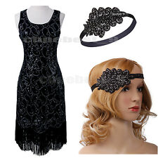 1920s Flapper Dresses Vintage Gatsby Charleston Cocktail Party Costume Plus Size