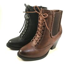 Pierre Dumas Denny-15 Thick Heel Round Toe Ankle Boots Choose Sz/Color
