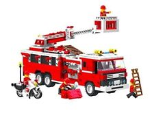 Top Race® Fire Truck Vehicle Building Set (567 Pieces) With Fire Chief Motorcyc