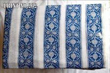 3 To 10 Yard Light Weight Hand Made Block Print Dress Material Cotton Fabric