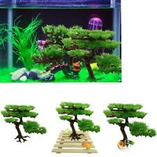 Aquarium Artificial Plastic Plants Pine Tree Fish Tank Ornament Decor 3 Types
