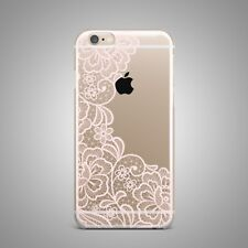 Floral Henna Boho Mandala Design TPU Silicone Rubber Clear Case Cover for iPhone