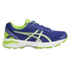 Asics GT 1000-5 BOY'S RUNNING SHOES, BLUE/SILVER/GREEN - Size US 1, 2, 3 Or 4