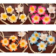 100x Wedding Frangipani Foam Floating Plumeria Flower Head Craft DIY Decoration