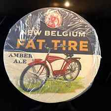 NEW BELGIUM BREWING FAT TIRE  SLEEVE OF NEW BEER COASTERS (APPROX 110 CT.)