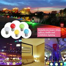 220V E27 1/2/3W LED Golf Light Bulb Party Globe Lamp with PC Cover 7 Colors