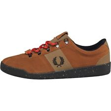 NEW GENUINE Fred Perry Mens Authentic Stockport Suede Trainers Ginger 8,10 UK