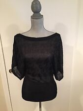 Baby Phat  Three Quarter Split Sleeve Sweater