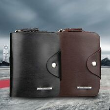 Multifunction Hasp Open Wallet Men PU Leather Men Wallets Purse Short EG