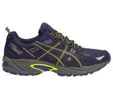 Asics Gel Venture-5 MEN'S TRAIL RUNNING SHOES,BLUE/BLACK/YELLOW- Size US 7 Or 13
