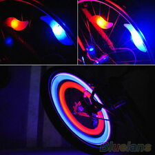 Safety Bike Bicycle Cycling Car Wheel Tire Tyre LED Spoke Light Lamp Happy