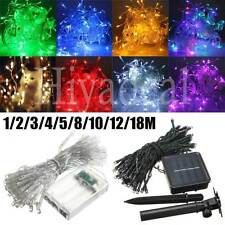 1-50M LED Battery/Solar Fairy String Light Outdoor Wedding Christmas Party Lamps