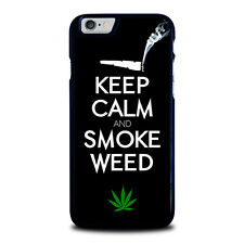KEEP CALM AND SMOKE WEED For iPhone 4 4S 5 5S 5C 6 6S 7 Plus SE Phone Case