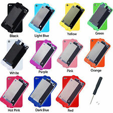 NEW 11 Colors Replacement Battery Back Cover Door Rear Glass For iPhone 4 4S + T