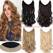 Long Straight Curly Piece Secret Wire Hair Piece Hair Extensions As Human Brown
