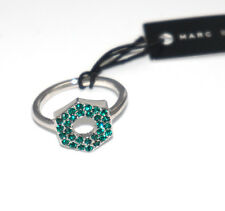Marc by Marc Jacobs Green Crystal Pave Bolt Ring