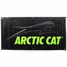 Arctic Cat Aircat 3' x 6' Shop Banner Sign - Black with Grommets - 5224-057