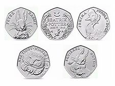 Beatrix Potter 50p UNCIRCULATED Puddle Duck Tiggy Winkle Squirrel Nutkin Peter .