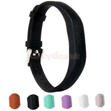 Smart Bracelet Accessory for Fitbit Flex 2 Wristband With Chrome Clasp