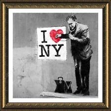 FRAMED Poster Banksy New York Doctor Banksy Framed Print Giclee For Home Decor