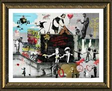 FRAMED Poster Unique Collage - Always Hope Flower Thrower Cleaning Lady Pulp