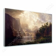 READY TO HANG CANVAS Among The Sierra Nevada Mountains Albert Bierstadt Giclee