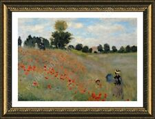 FRAMED Poster Wild Poppies Claude Monet Framed Posters Oil Paintings Prints