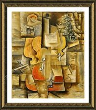 Alonline Art - FRAMED Poster Violin And Grapes Pablo Picasso Wall Art Pictures