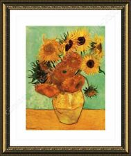 FRAMED Poster Sunflowers Tournesols Vincent Van Gogh For Living Room Giclee