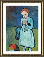 FRAMED Poster Child With Dove Pablo Picasso Framed Print Oil Paintings Prints