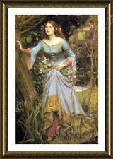 Alonline Art - FRAMED Poster Ophelia Waterhouse For Home Decor Framed Wall Art