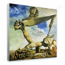 READY TO HANG CANVAS Soft Construction With Boiled Beans Salvador Dali Frame