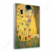 Alonline Art - READY TO HANG CANVAS The Kiss Gustav Klimt Framed Paintings