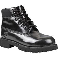Timberland 6 Inch Classic Boot Youth Black Shine Patent Ankle Boots