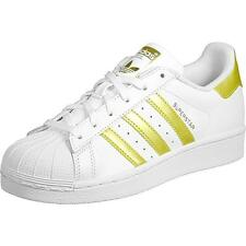 Adidas Originals Superstar Youth White/Gold Leather Trainers
