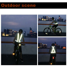 Traffic Night Work Security Running Cycling Safety Reflective Vest Jacket EG