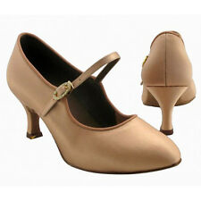 HenryG Women Ballroom Salsa Dance Shoes, Dance Pumps, Flesh Color - HGB-1372