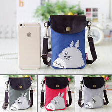Japan Anime Totoro Canvas Shoulder Wallet Cross Body Purse Cell Phone Mobile bag