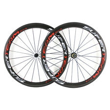 NEW Light 700C 50mm Clincher Carbon Wheels 23mm Width Road Bike Cycling Wheelset
