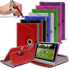 """360° Rotating Luxury PU Leather Spring Stand Case Cover✔Pen Swivel - 10"""" Tablets"""